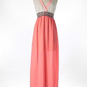 Embroidered Maxi Dress Flying Tomato
